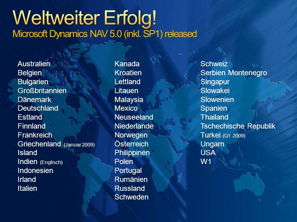 Weltweiter Erfolg! Microsoft Dynamics NAV 5.0 (inkl. SP1) released