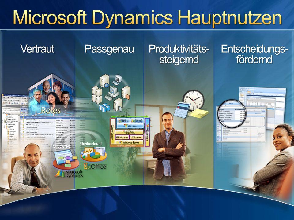 Microsoft Dynamics Hauptnutzen