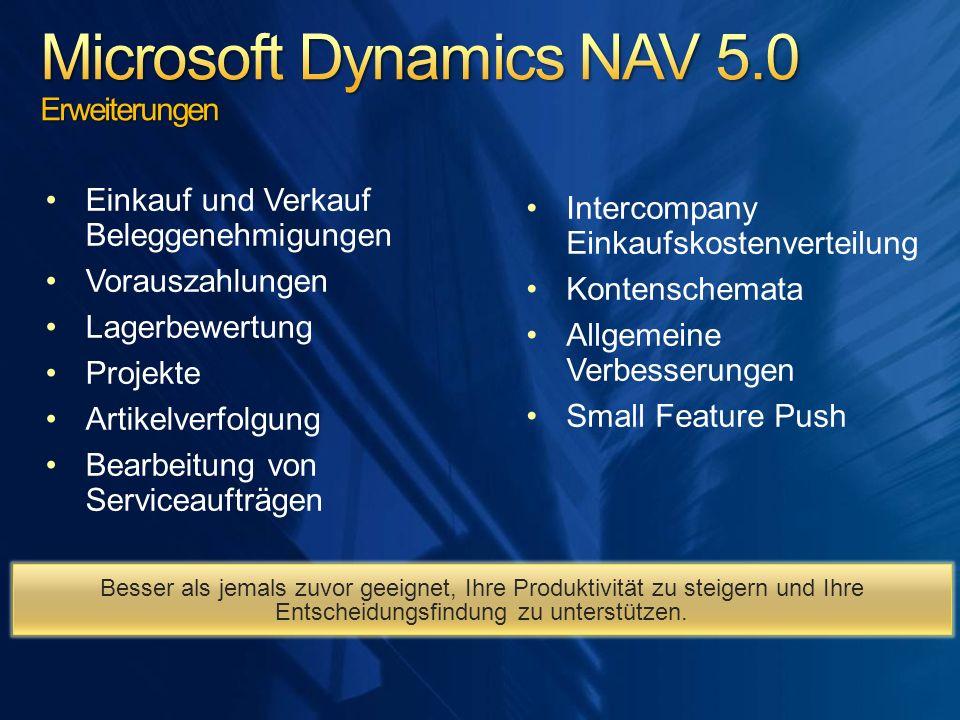 Microsoft Dynamics NAV 5.0 Erweiterungen