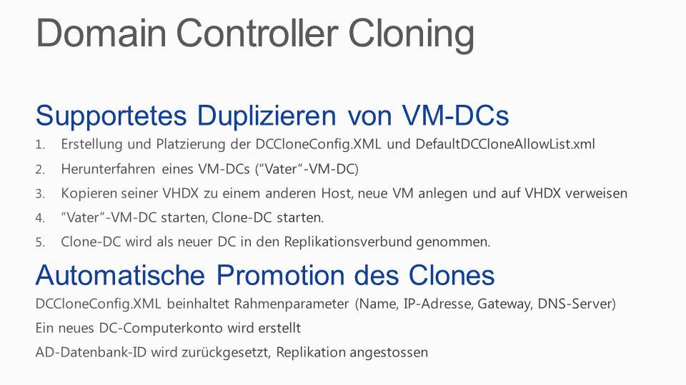Domain Controller Cloning