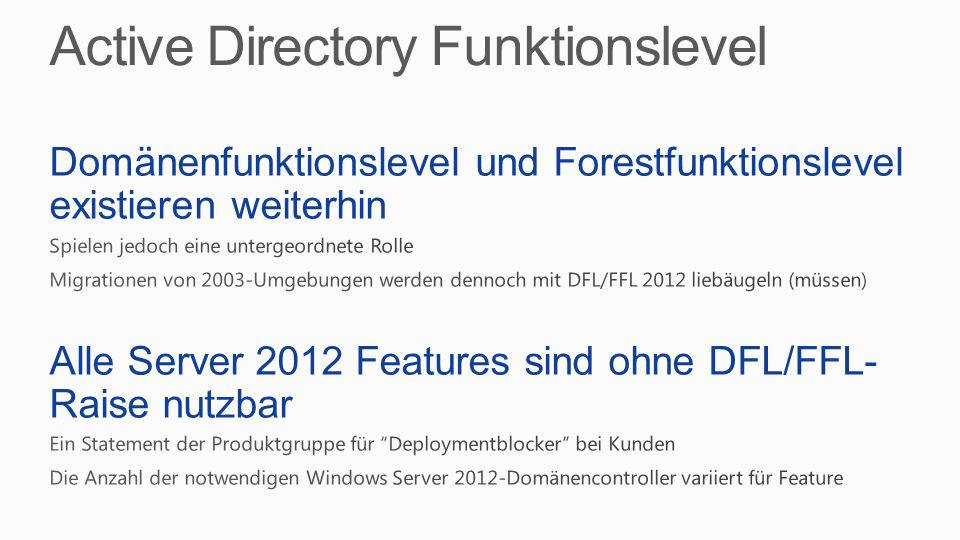 Active Directory Funktionslevel