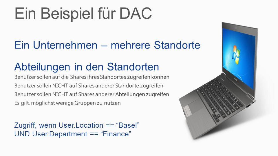 Ein Beispiel für DAC Ein Unternehmen – mehrere Standorte