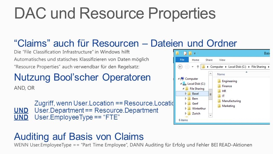 DAC und Resource Properties