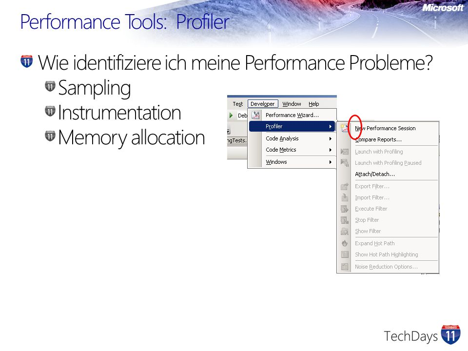 Performance Tools: Profiler