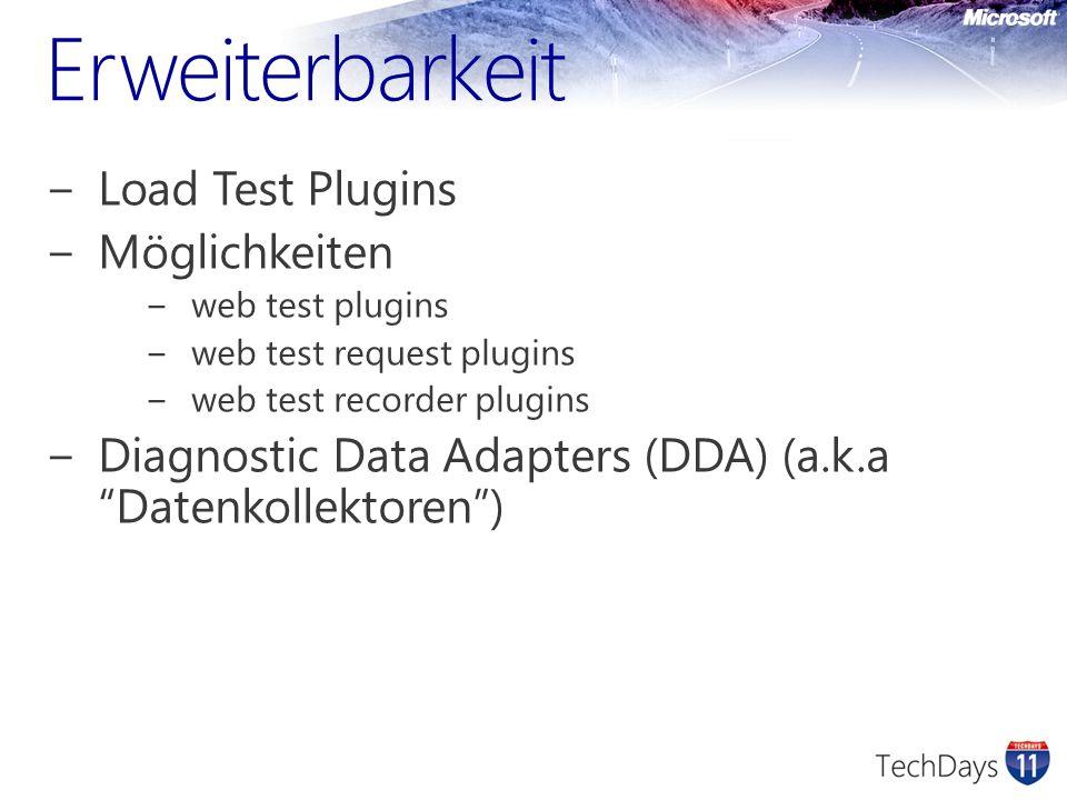 Erweiterbarkeit Load Test Plugins Möglichkeiten