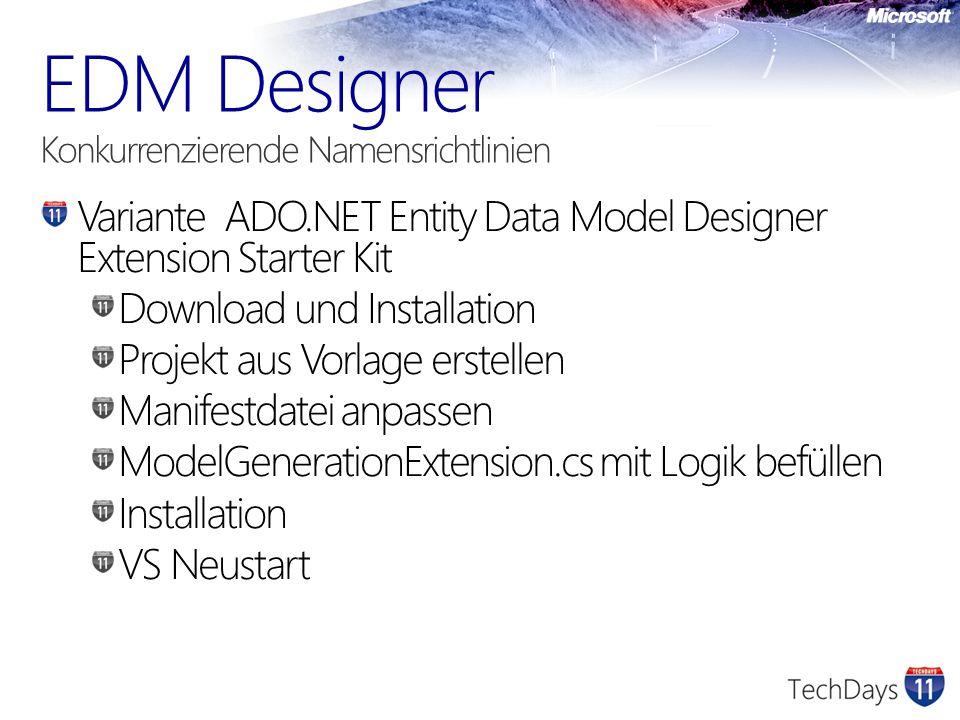 EDM Designer Konkurrenzierende Namensrichtlinien