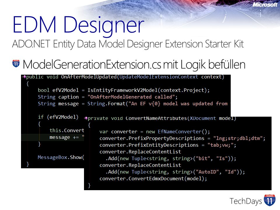 EDM Designer ADO.NET Entity Data Model Designer Extension Starter Kit