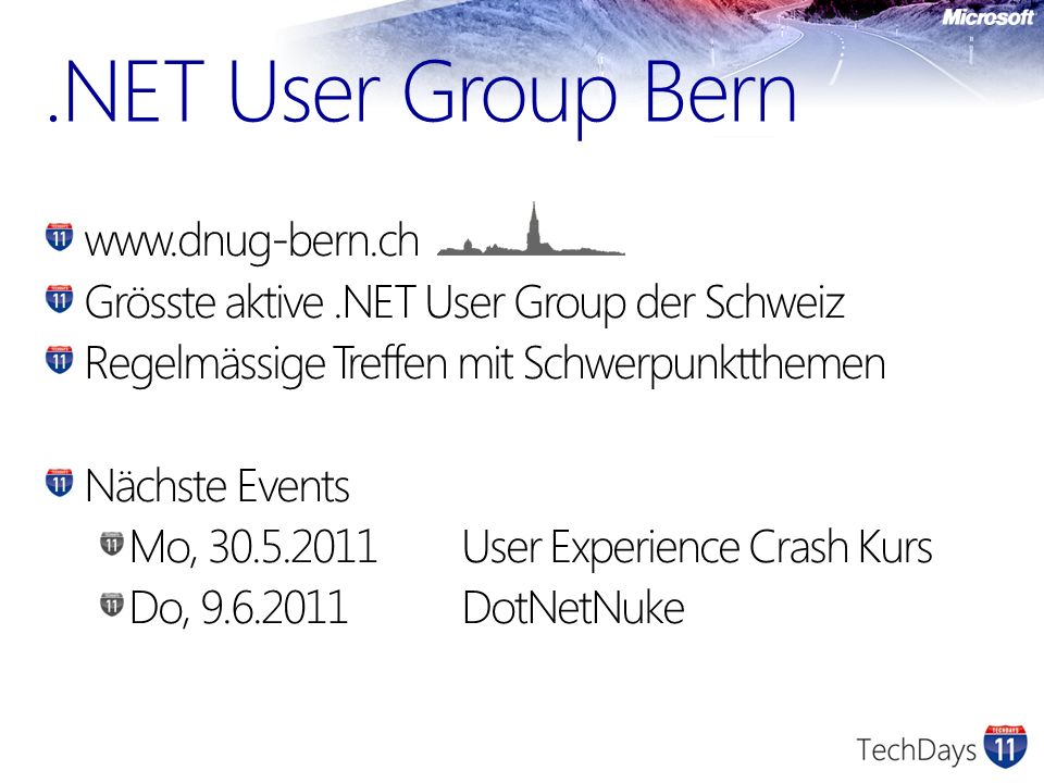 .NET User Group Bern www.dnug-bern.ch