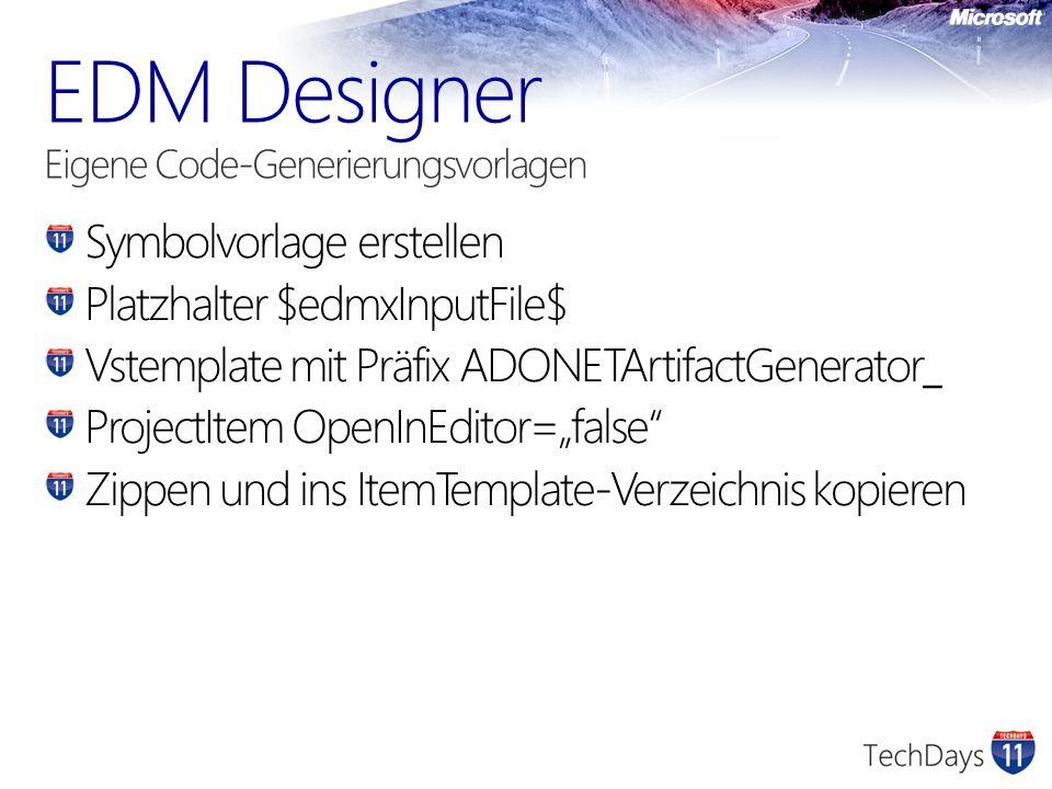 EDM Designer Eigene Code-Generierungsvorlagen