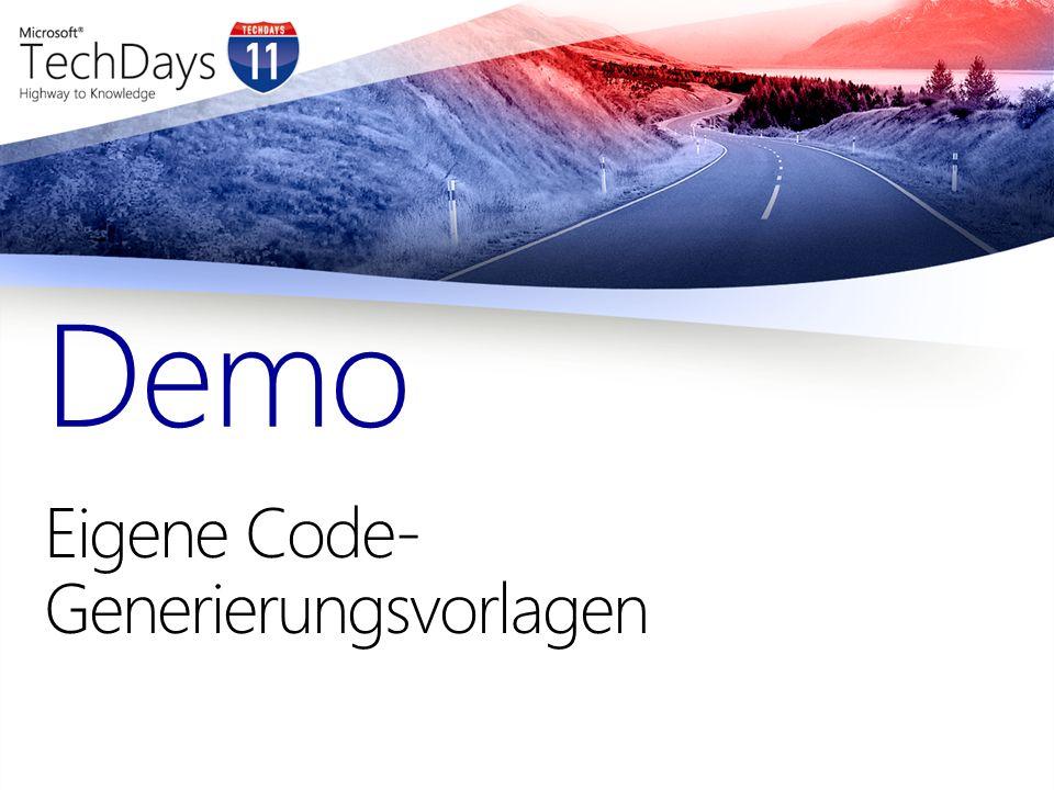 Eigene Code-Generierungsvorlagen