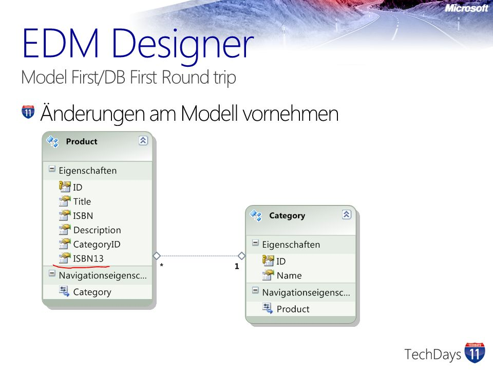 EDM Designer Model First/DB First Round trip