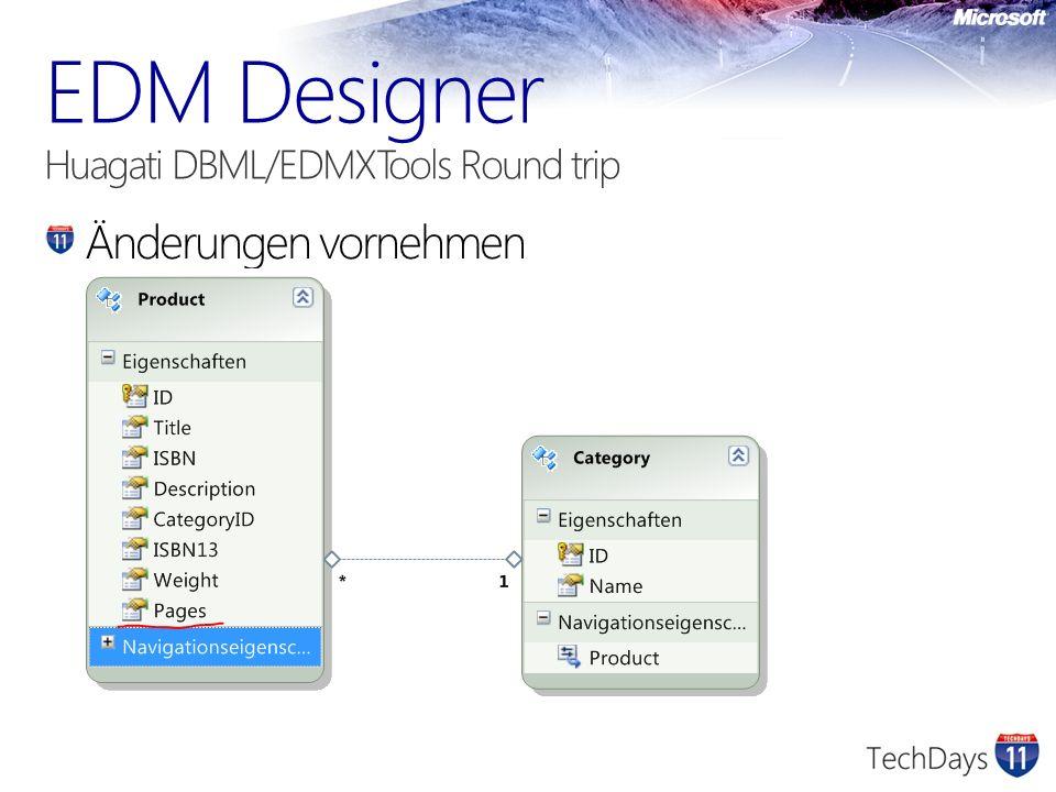 EDM Designer Huagati DBML/EDMXTools Round trip