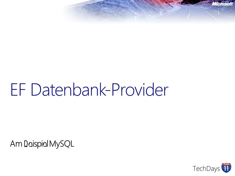 EF Datenbank-Provider