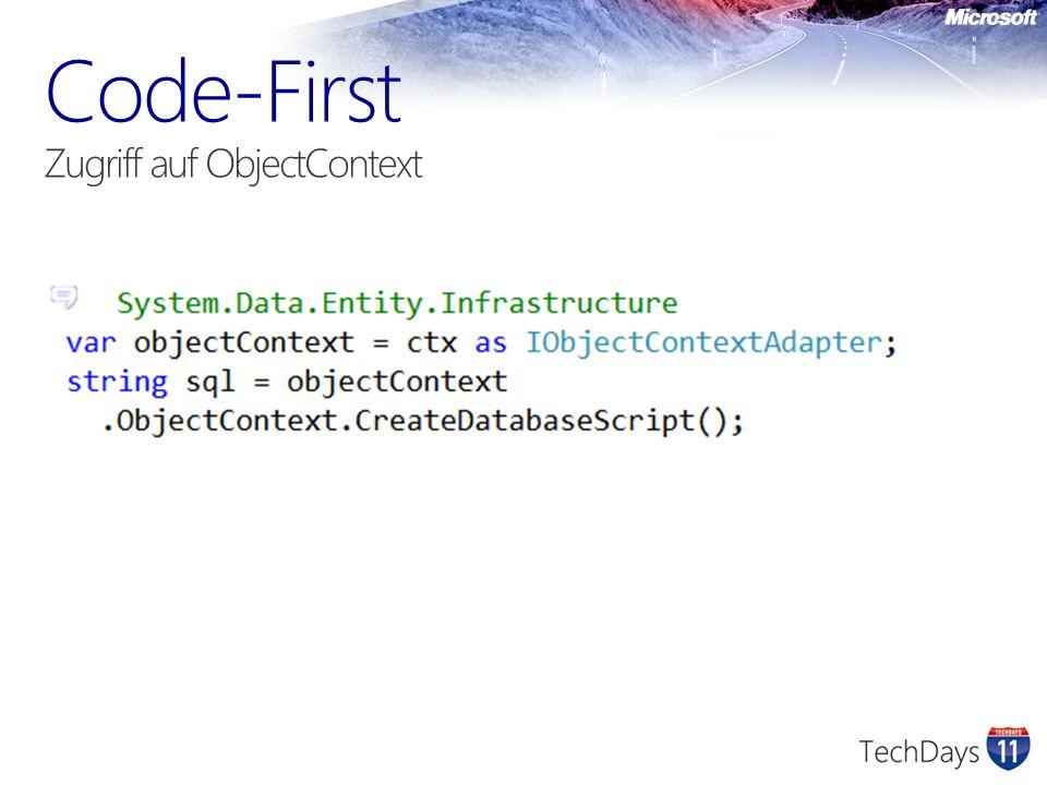 Code-First Zugriff auf ObjectContext
