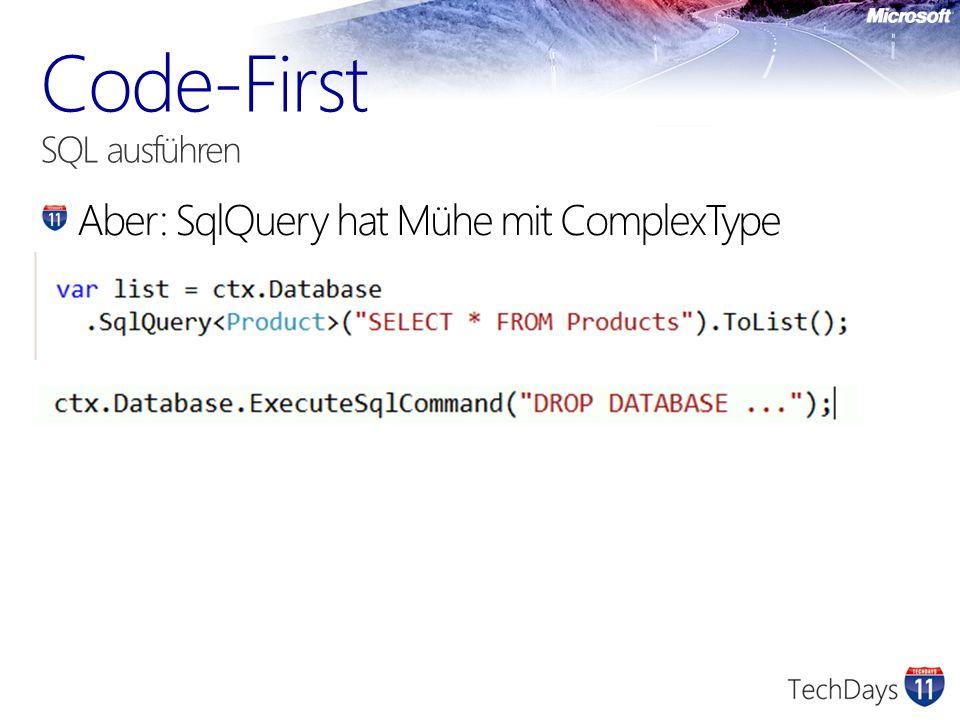 Code-First SQL ausführen