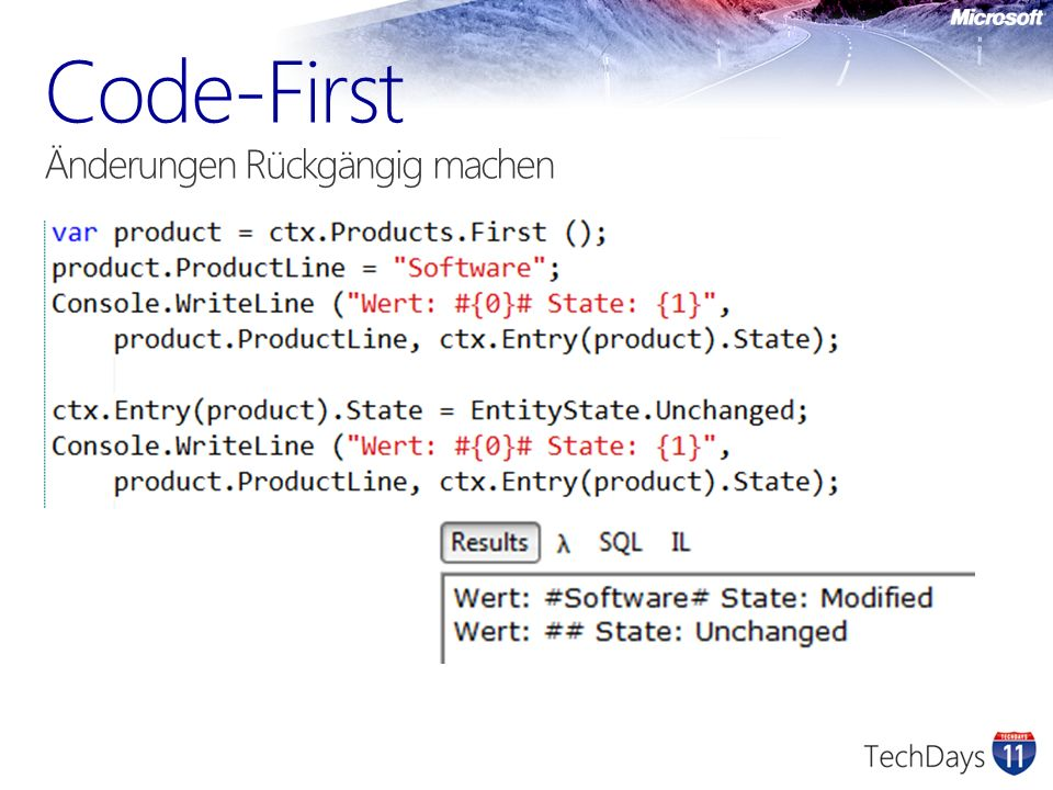 Code-First Änderungen Rückgängig machen