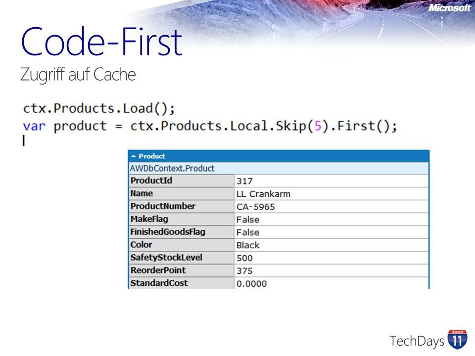 Code-First Zugriff auf Cache