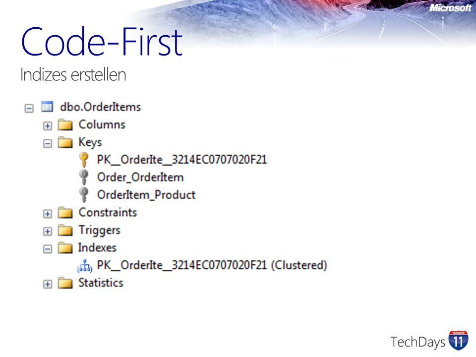 Code-First Indizes erstellen