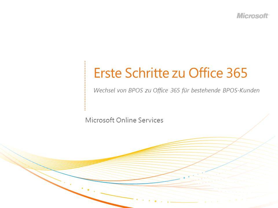 Erste Schritte zu Office 365