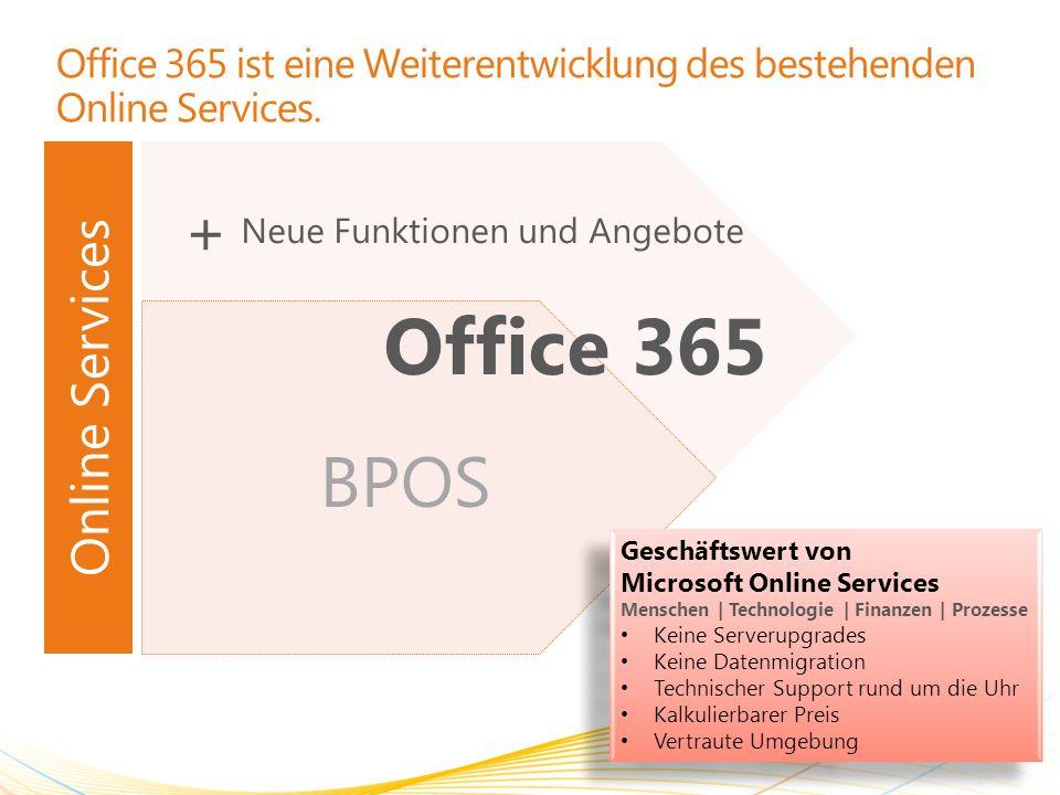 Office 365 ist eine Weiterentwicklung des bestehenden Online Services.