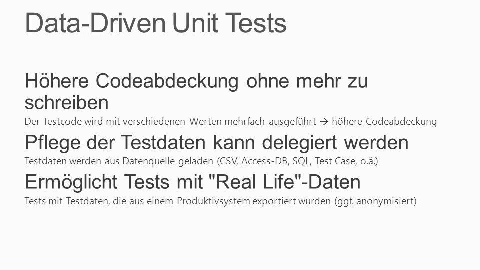 Data-Driven Unit Tests