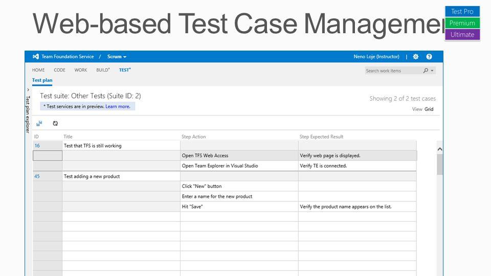 Web-based Test Case Management
