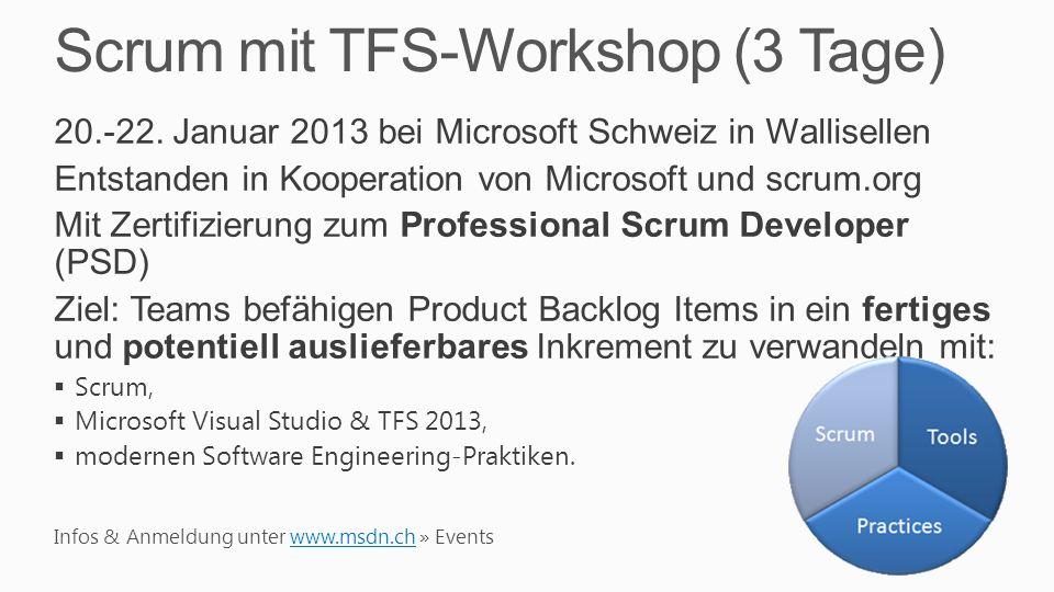 Scrum mit TFS-Workshop (3 Tage)