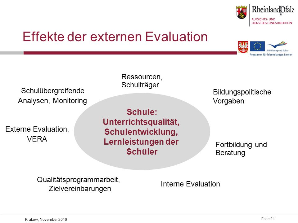 Effekte der externen Evaluation
