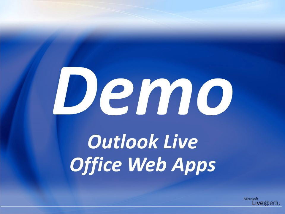 Demo Outlook Live Office Web Apps Outlook Live