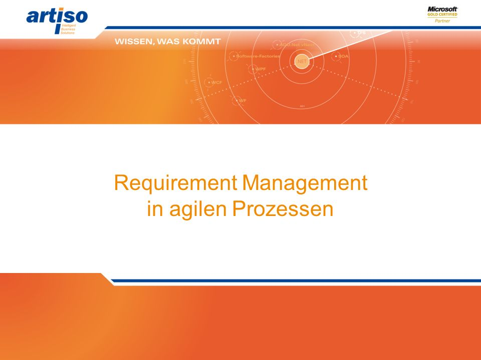 Requirement Management in agilen Prozessen