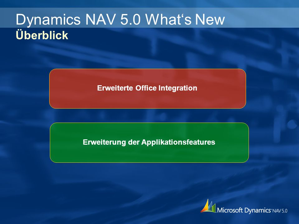 Dynamics NAV 5.0 What's New Überblick
