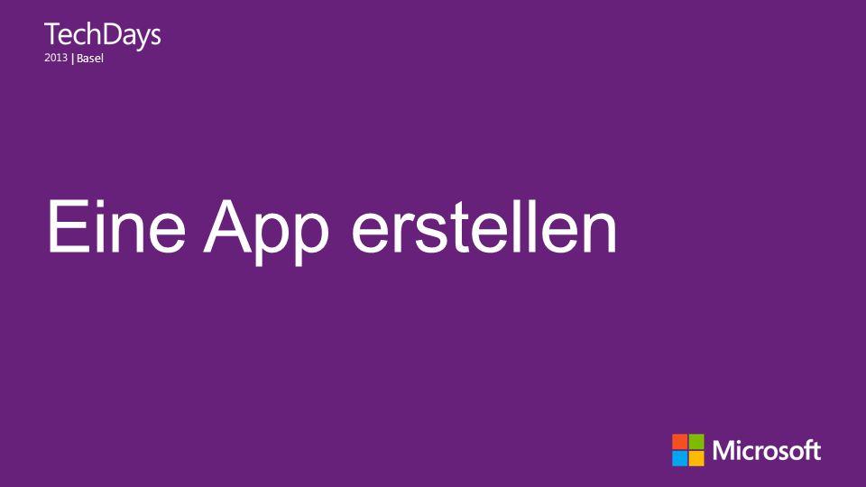 Eine App erstellen