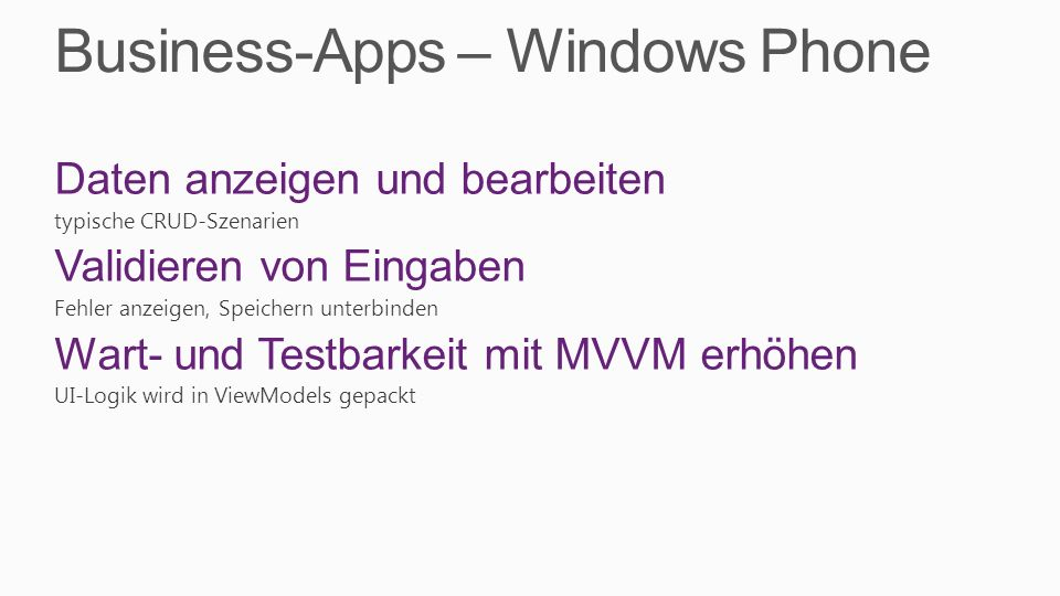 Business-Apps – Windows Phone