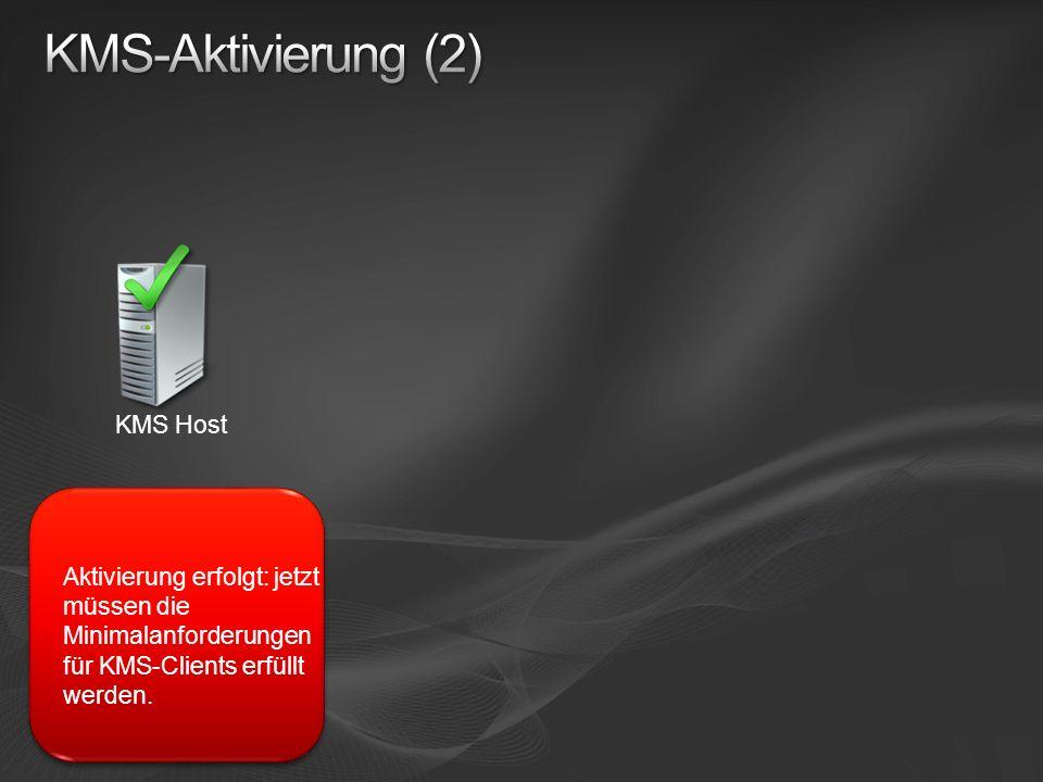 KMS-Aktivierung (2) KMS Host