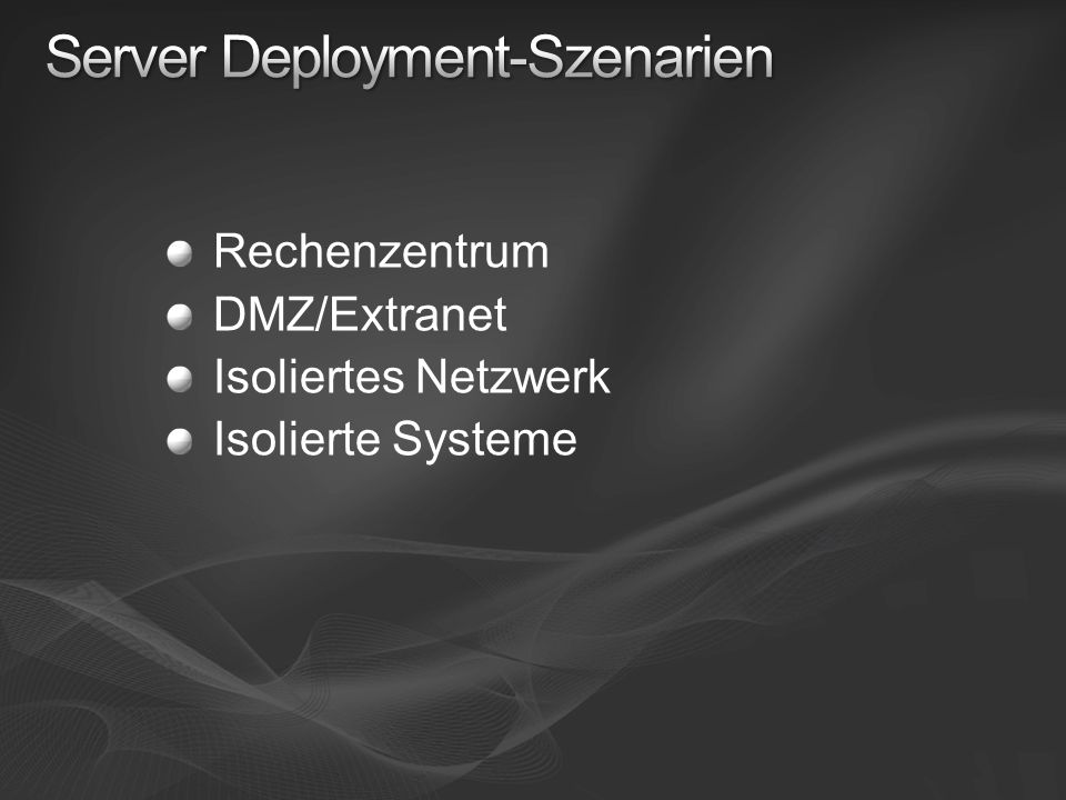 Server Deployment-Szenarien
