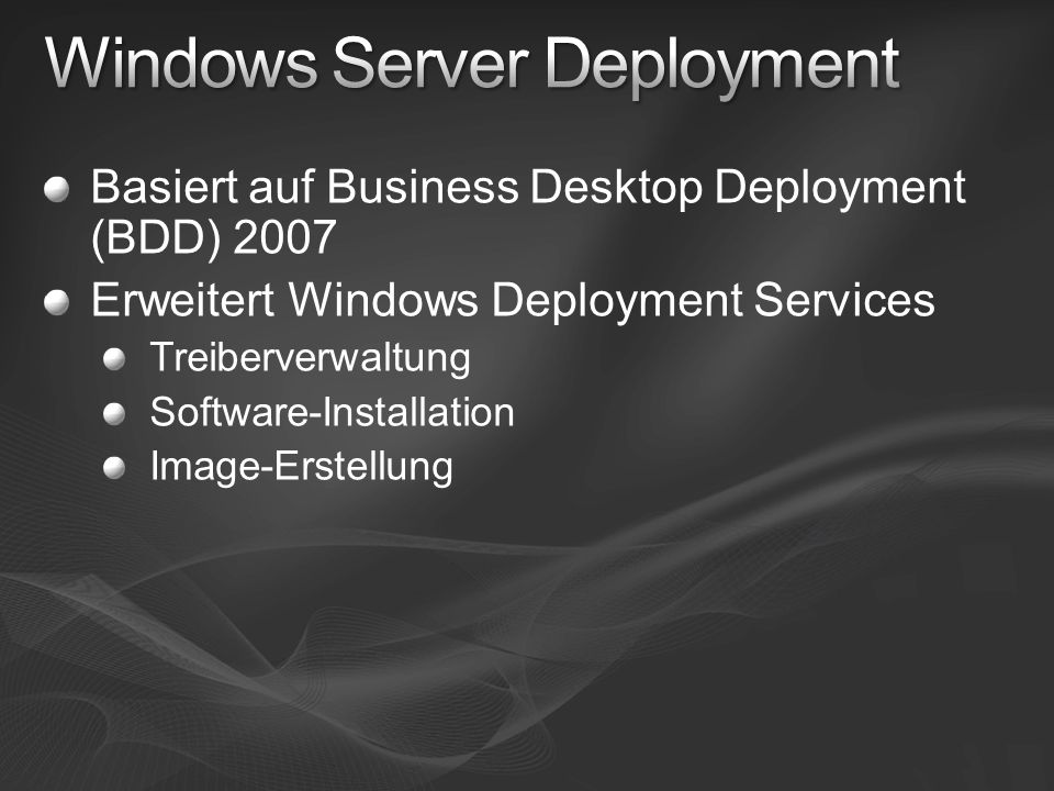 Windows Server Deployment