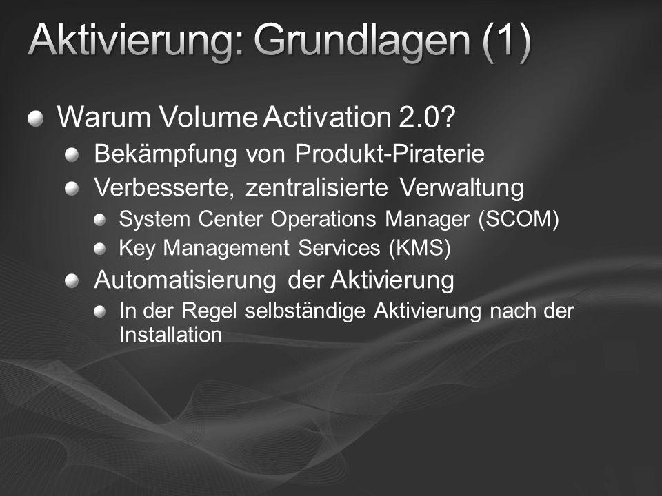 Aktivierung: Grundlagen (1)