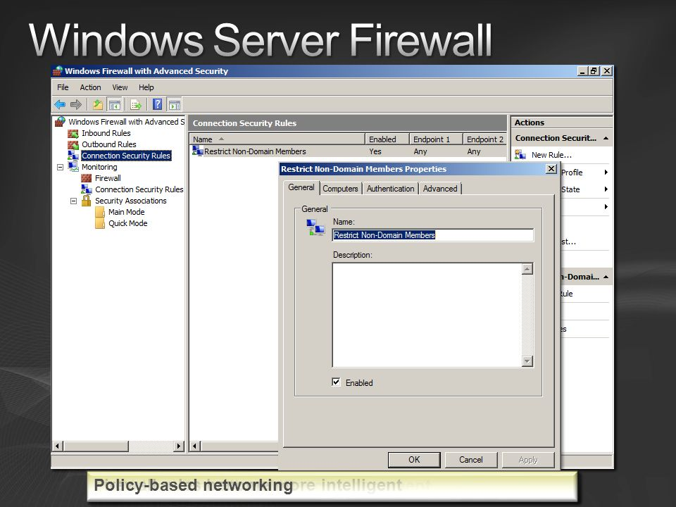 Windows Server Firewall