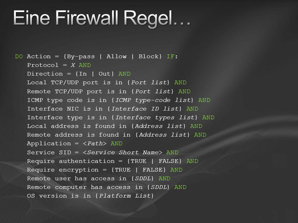 Eine Firewall Regel…