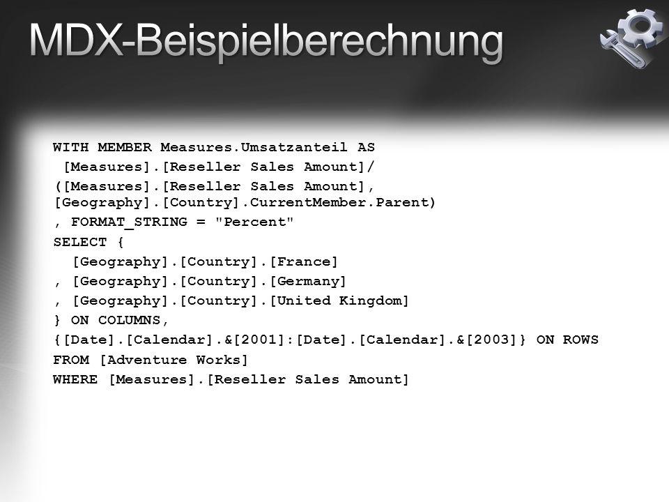 MDX-Beispielberechnung