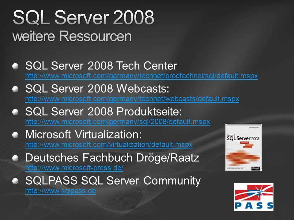 SQL Server 2008 weitere Ressourcen