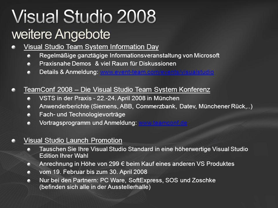 Visual Studio 2008 weitere Angebote