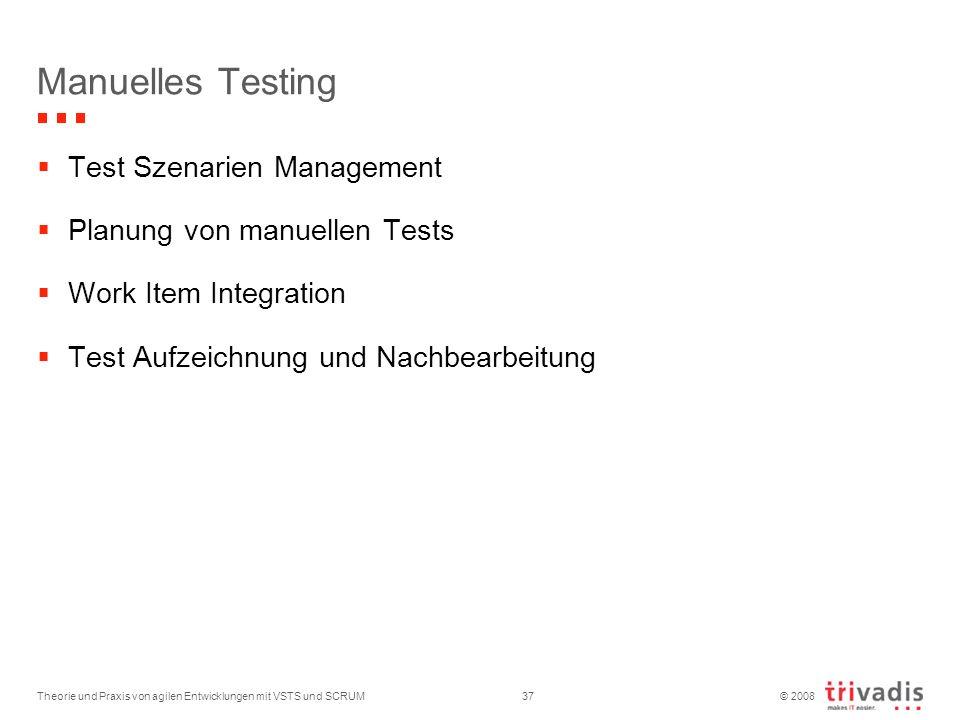 Manuelles Testing Test Szenarien Management