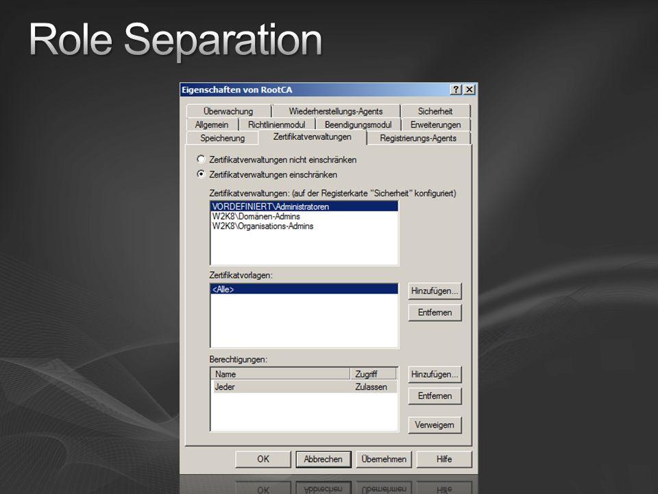 Role Separation