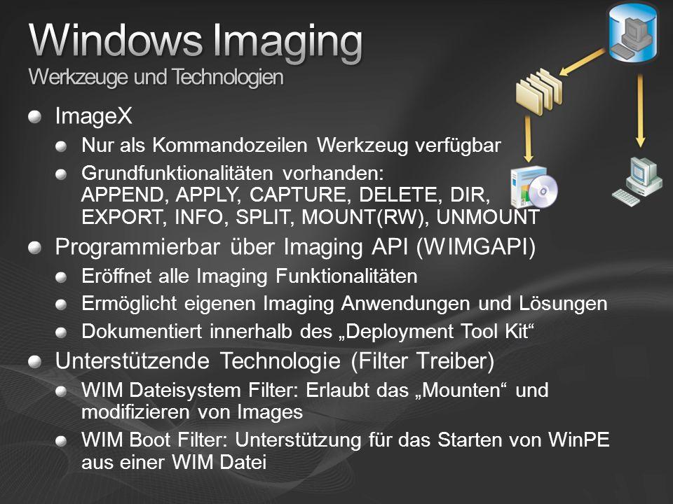 Windows Imaging Werkzeuge und Technologien