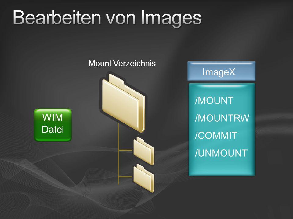 Bearbeiten von Images ImageX /MOUNT /MOUNTRW /COMMIT WIM Datei