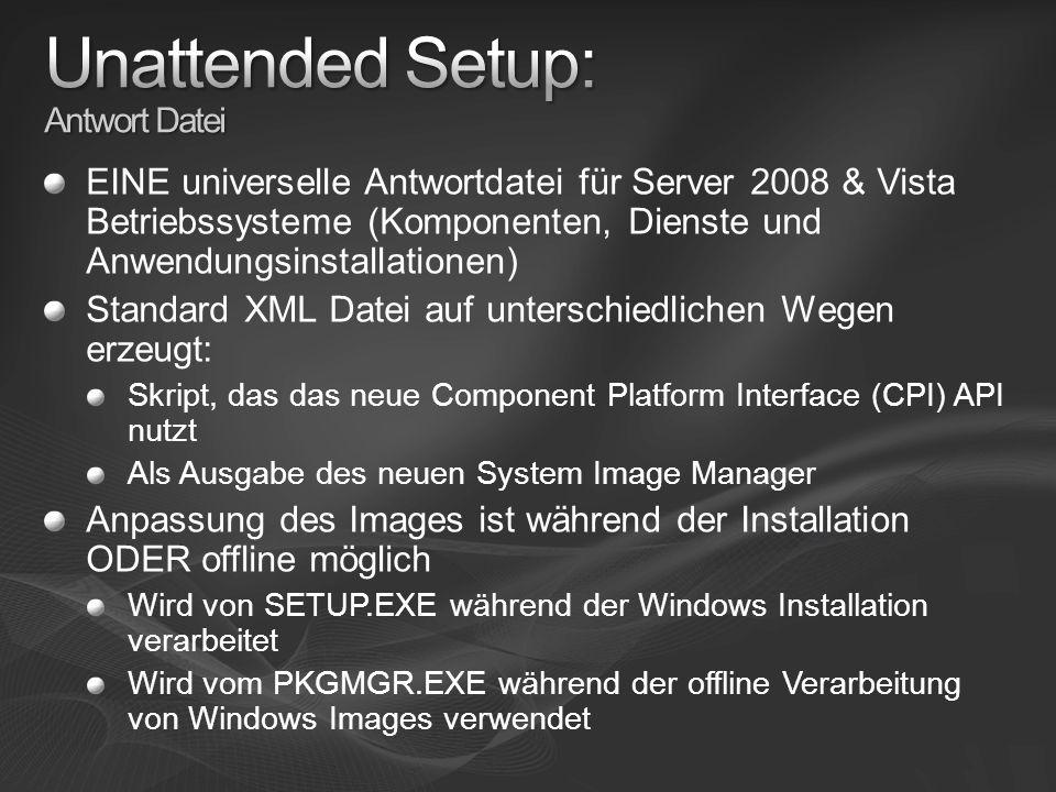 Unattended Setup: Antwort Datei
