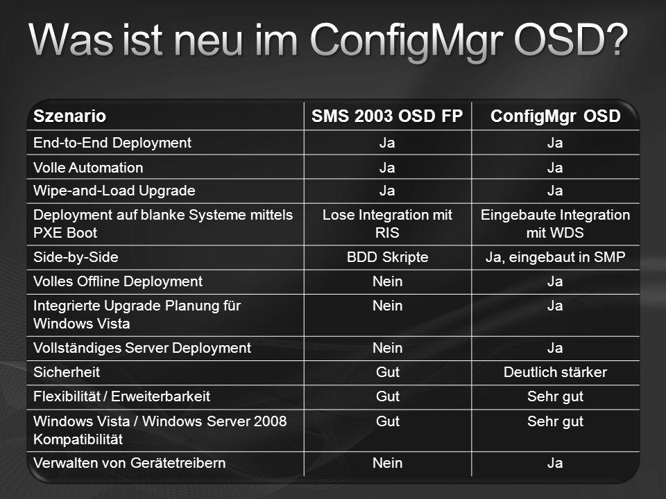 Was ist neu im ConfigMgr OSD