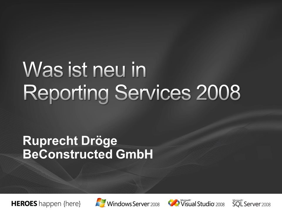 Was ist neu in Reporting Services 2008