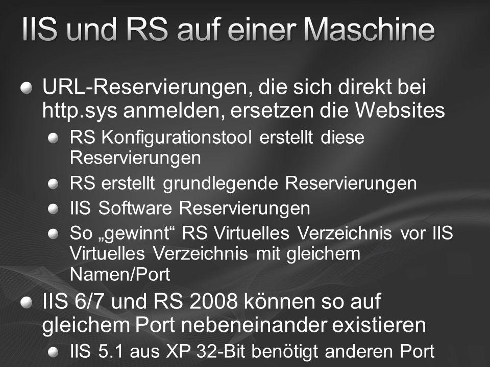 IIS und RS auf einer Maschine